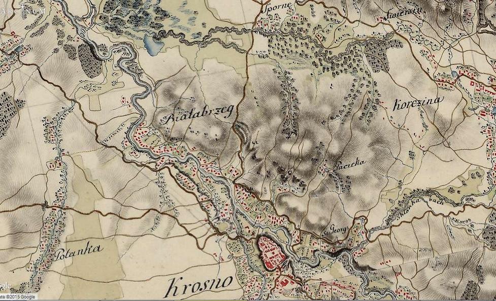 lesna laka mapa galicji