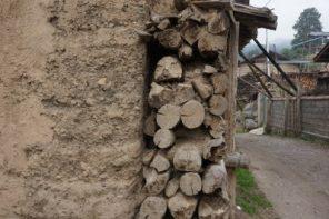 Chińskie i tybetańskie chaty w Górach Qinling